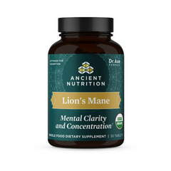 Photo of Lion's Mane Mental Clarity and Concentration Tablets (30 Tablets)