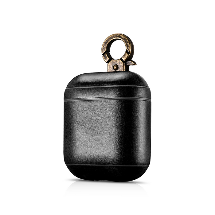 new concept 15ce7 21236 AirPods Leather Case Black