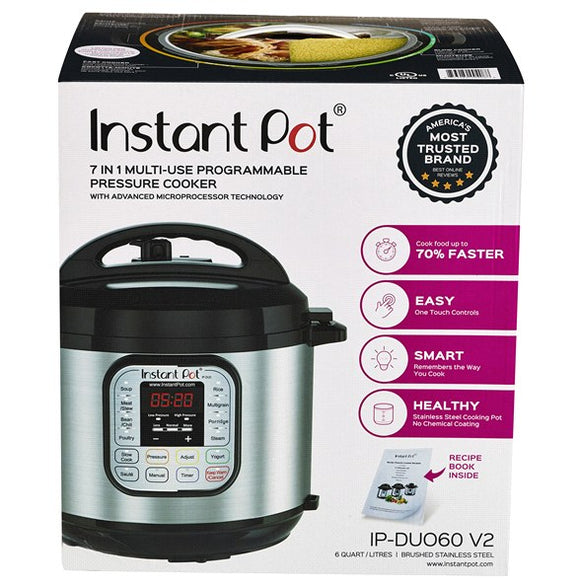 Instant Pot Duo 7-in-1 Programmable Pressure Cooker DUO60 6 QT
