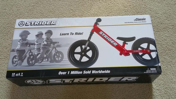 Strider 12-in. Classic Balance Bike RED