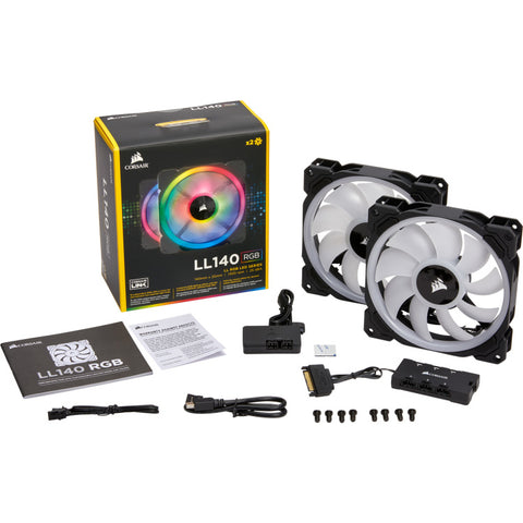 Corsair LL140 RGB LED PWM fan - 2 Fan Pack