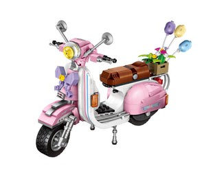 LOZ Mini Blocks Scooter Pink 1197 Mini Vehicle Block Toys