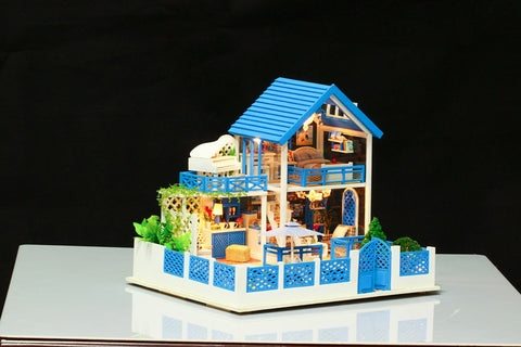 DIY Doll House Travel to Agean Sea (K009) Wooden Miniature Dollhouse Birthday Anniversary Gifts