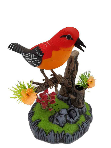 Sound Control Singing Bird Red Bird Electric Voice-Activated Bird Pets Christmas Gift Birthday Gift for Kids