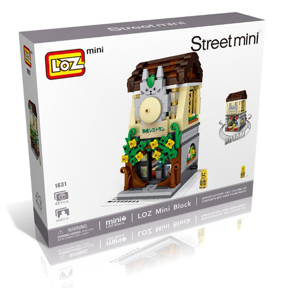 LOZ Mini Nano Diamond Building Block Shopping Street - JAPANESE SHOP (1631)