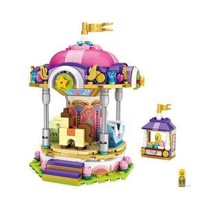 Amusement /Theme Park Carousel Mini Building Blocks (#1720)