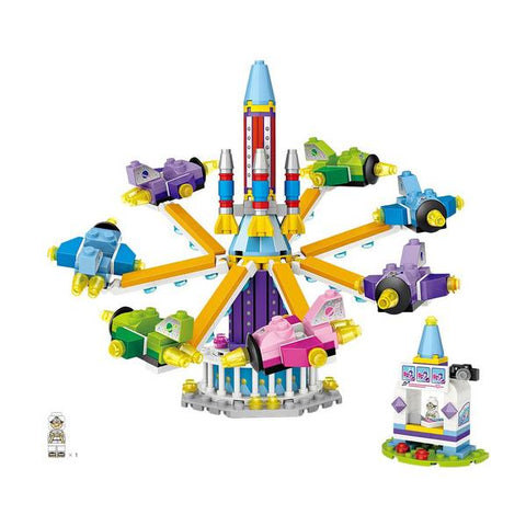 Amusement /Theme Park Rocket Ride Mini Building Blocks (#1719)