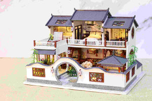 Ancient Dream House (K049) iie Create Assemble Wooden Miniature Dollhouse w/LEDs and Glues Birthday Anniversary Gifts