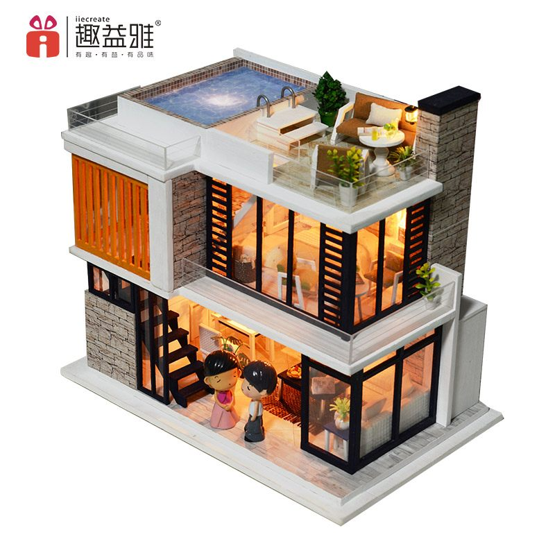 Assemble Doll House 'Florence (K036) Wooden Miniature Dollhouse Anniversary Gifts