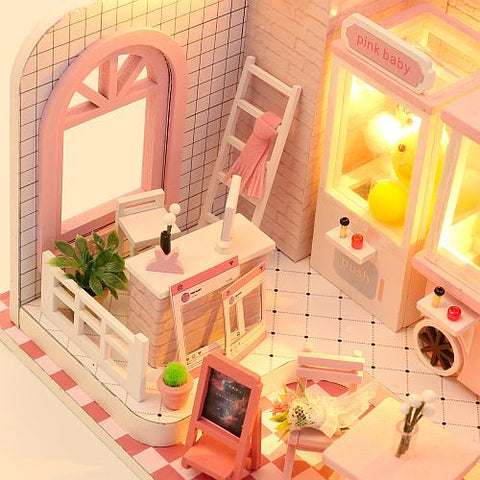 'Do Re Mi' Toy Shop Wooden Miniature Doll house Furniture Kits w/ LEDs