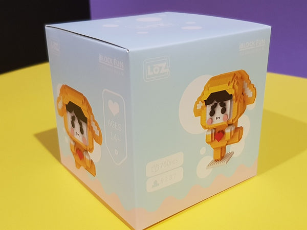 LOZ Diamond Blocks Cartoon Lucky (#9237) Action Figure Cartoon Colorful Animals Educational Bricks Toys for Children