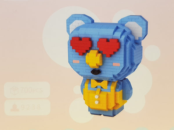 LOZ Diamond Blocks Cartoon Koala (#9238) Action Figure Cartoon Colorful Animals Educational Bricks Toys for Children