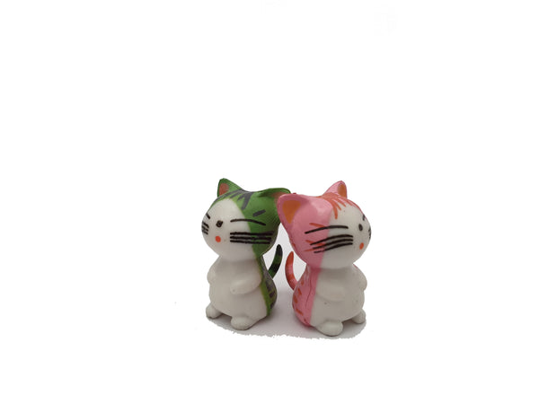Miniature Green Cats for Miniature Dollhouse