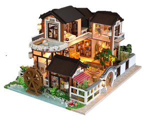 Assemble Dollhouse Ancient House Furniture Kits 'Dream back in Ancient Town' Wooden Miniature Doll House Beautiful Gifts Birthday Presents Wedding Presents