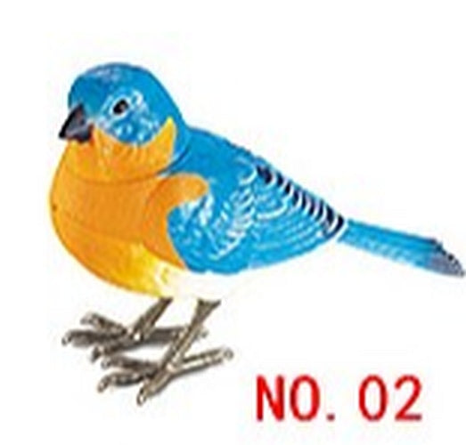Lighting Control Function Bird Painted Bunting Home Garden Decor Children's Electronic Toy Bird