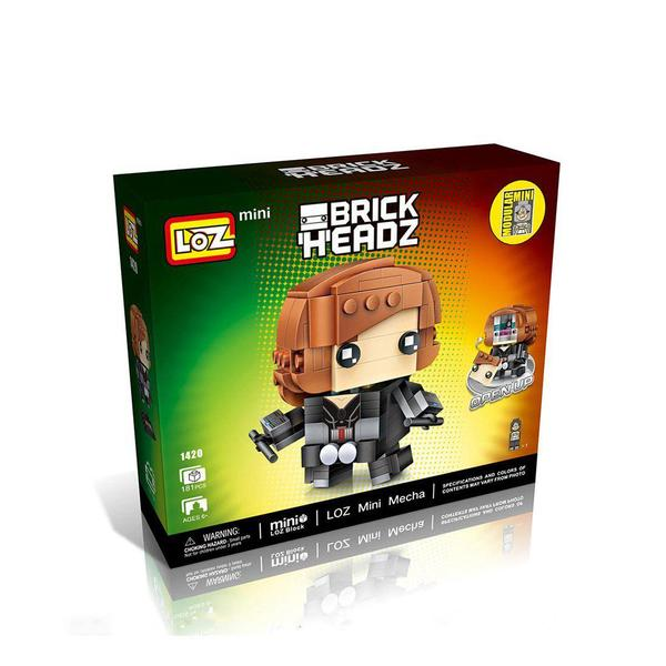 LOZ Mini Brick DIY Mini Nano Block BrickHeadz - BLACK WIDOW