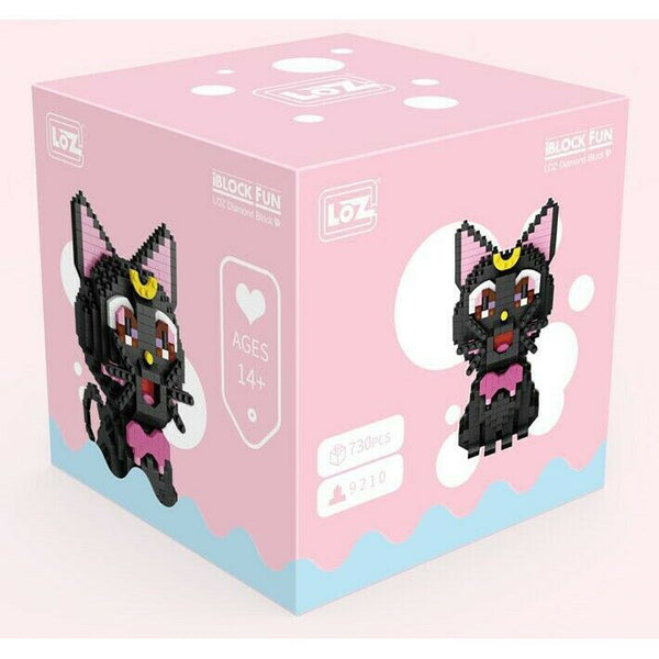 LOZ Mini Blocks Anime Sailor Moon Luna Cat Pet Diamond Blocks Bricks Educational Toy Hobbies (#9210)