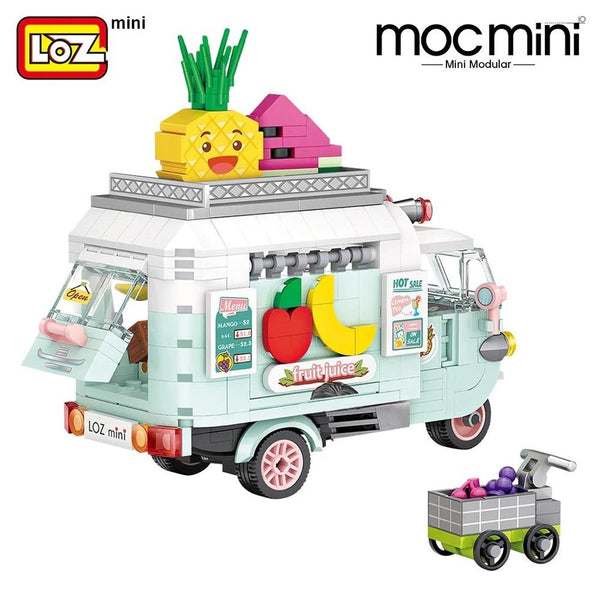 LOZ Mini Blocks Fruit Truck (1737) Building Block Toys for Children Birthday Presents