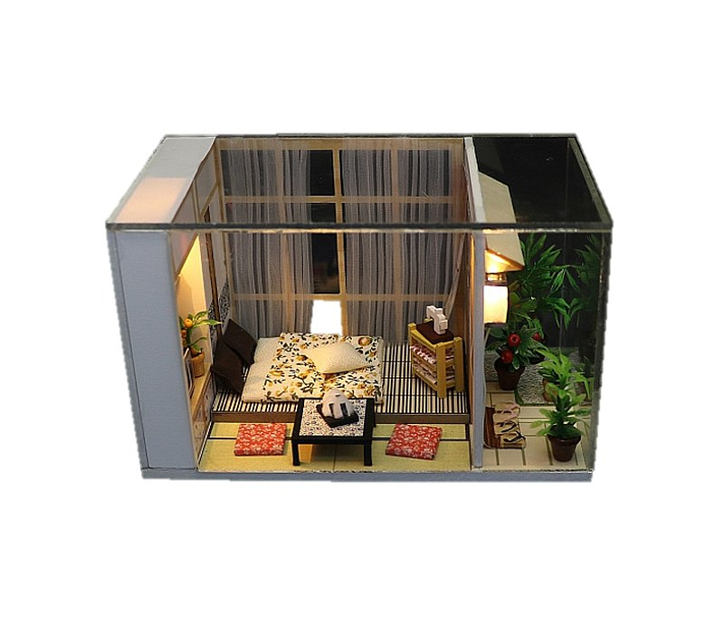 Ensemble Wooden Miniature Doll House Furniture Kit DIY Doll House DIY Furniture Doll House and Miniature Gifts