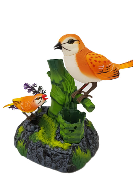 2 Lovely Birds Sound Control Singing Bird Electric Voice activated Bird Pets Christmas Gift Birthday Gift for Kids