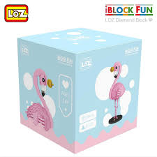 LOZ Diamond Blocks Cartoon Mini Nano Diamond  Brick Pink Flamingo (#9205)
