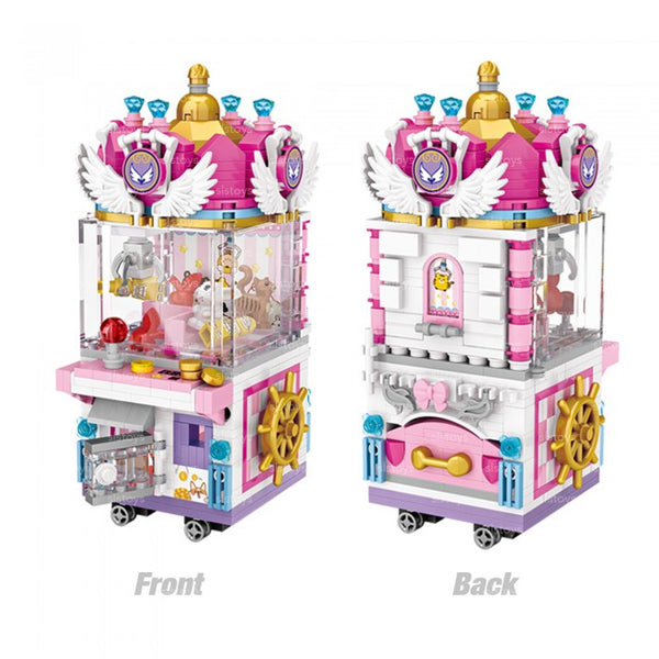Amusement /Theme Park Clip Dolls Machine 3D Model DIY Mini Blocks Building Toy (#1721)