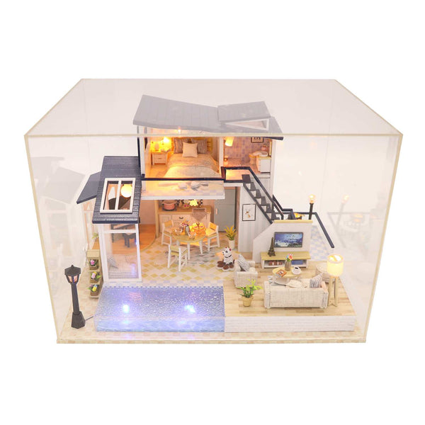 DIY Dollhouse Furniture Kits 'Mermaid Tribe' Wooden Miniature Doll House w/ LEDs Handmade Gifts Birthday Presents