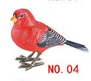 Lighting Control Function Bird Scarlet Tanager Home Garden Decor Children's Electronic Toy Bird