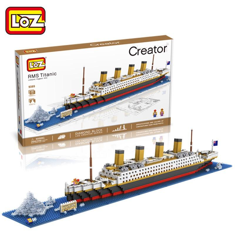 Mini Building Block - LOZ 9389 Titanic Mini Nano Diamond Building Block Ship