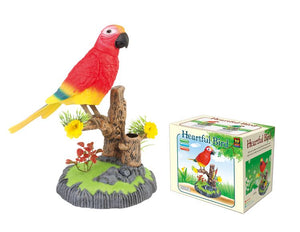 Sound Control Function Bird Pen Pencil Holder Red Bird for 3 Years and Above