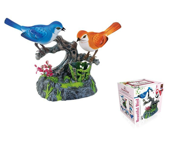 Electronic Voice-Activated Parrot Birds Pen Pencil Holder Sound Control Function Bird Blue and Orange Bird Cool Presents