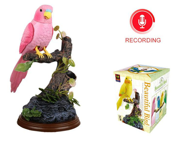 Electronic Talking Repeating Parrot Pink Parrot Pink Green Parrot Recording Function Bird Surprise Gifts
