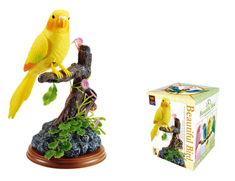 Electronic Voice-Activated Parrot Bird Pen Pencil Holder Sound Control Function Bird Yellow Bird Best Presents