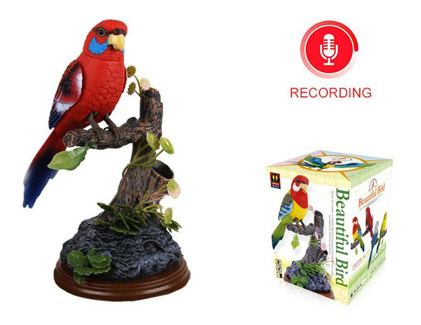 Recording Parrot Pen Pencil Holder Red Eastern Rosella Bird Lover Gifts