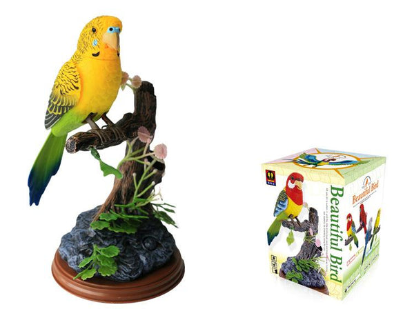 Eastern Rosella Sound Control Function Bird Little Bird Electronics Animated Singing Bird Electronic Voice-Activated Parrot Birds Pen Pencil Holder