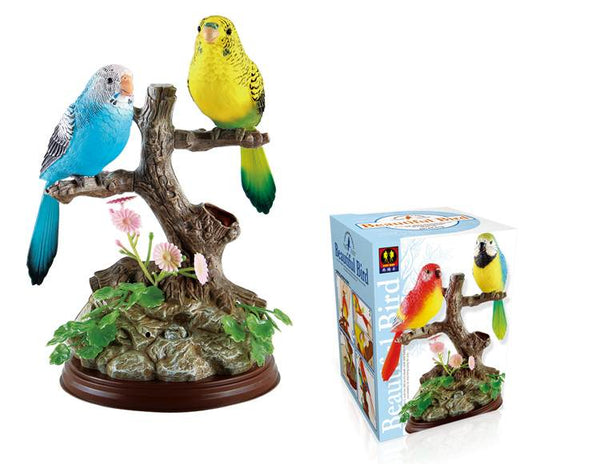 The Ensemble Birds Beautiful Birds Electric Sound Control Parrot Pen Pencil Holder Pet Toys