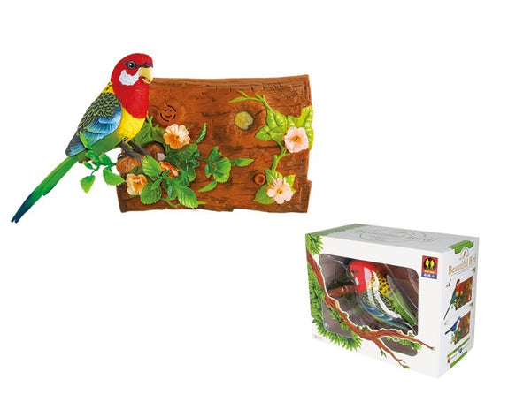 Wall-Hanging Eastern Rosella/Blue Jay Sound Sensor Function Bird Singing Toy Bird Sound Actives Bird Electrical Simulation Bird Surprise Presents