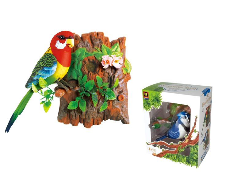 Wall-Hanging Blue Jay / Eastern Rosella Bird Sound Sensor Function Bird Surprise Presents