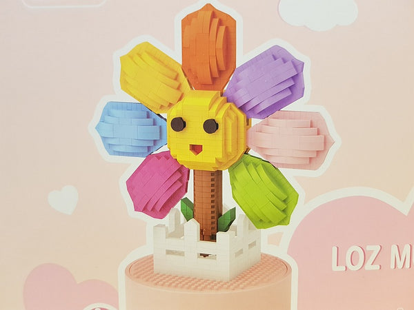 Mini Blocks Anime Sunflower Music Box Diamond Blocks Bricks Educational Toy Hobbies (#9854)
