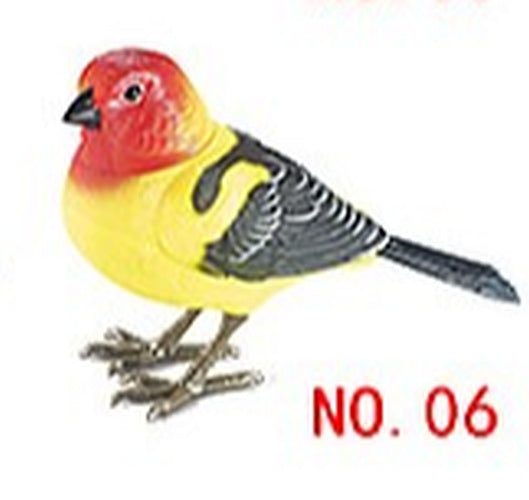 Lighting Control Function Bird Vermilion Flycatcher Home Garden Decor Children's Electronic Toy Bird