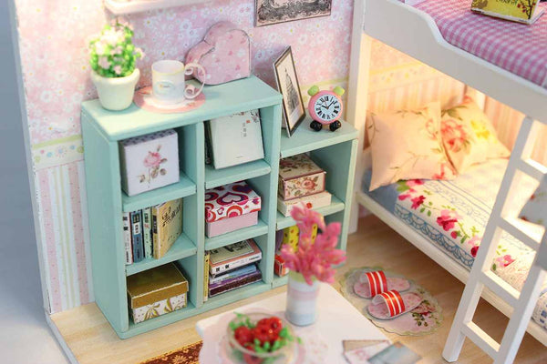 DIY M020 'Cheryl's Room ' Wooden Kids Toy Miniature Dollhouse w/ LEDs