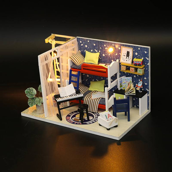 Hoomda S901 'Future Space' Wooden Miniature Dollhouse Room Kits Toys Gifts for Boy and Girl Fun Crafts Doll House Furniture Kits