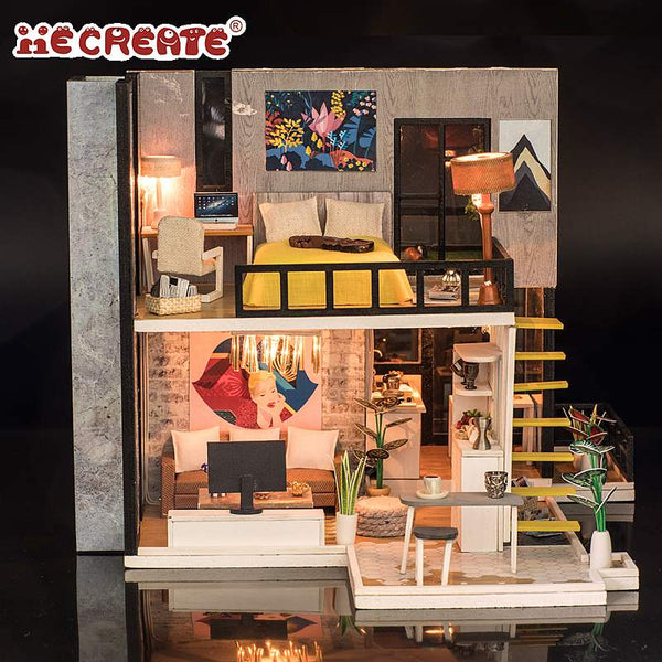 IIE CREATE September Forest (K033) Assemble Wooden Miniature Dollhouse w/LEDs and Glues Birthday Anniversary Gifts