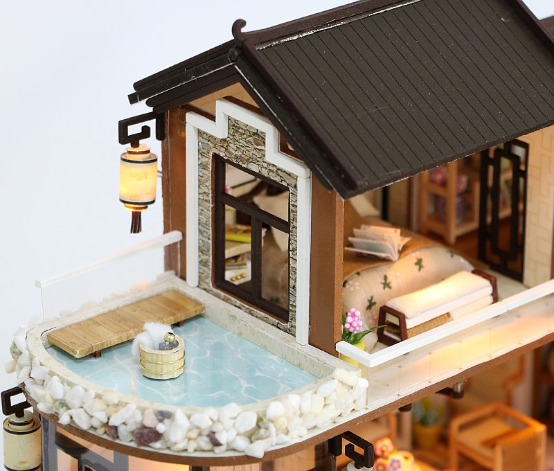White Horse Miniature  Dollhouse Doll House Picture