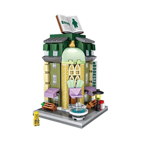 LOZ Mini Nano Diamond Building Block Street Building Block Toy- BOOK STORE (1624)