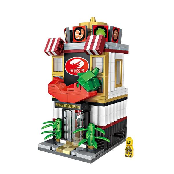 LOZ Mini Street DIY Mini Building Block Toy - CHINESE RESTAURANT (1627)