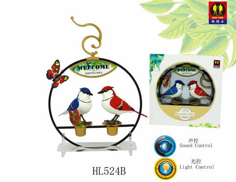 Light Control & Sound Control Function Bird with Iron Stand Bird Lovers Gifts