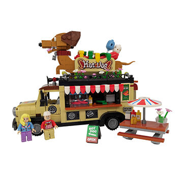 LOZ Mini Blocks Hot Dog Cart 1116 Mini Block Toys for Children