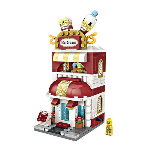 LOZ Mini Street Block Shop Building Block Toy - ICE CREAM SHOP (1626)