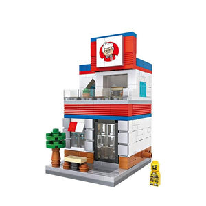 LOZ Mini Block Street Shop Building Block - KFC